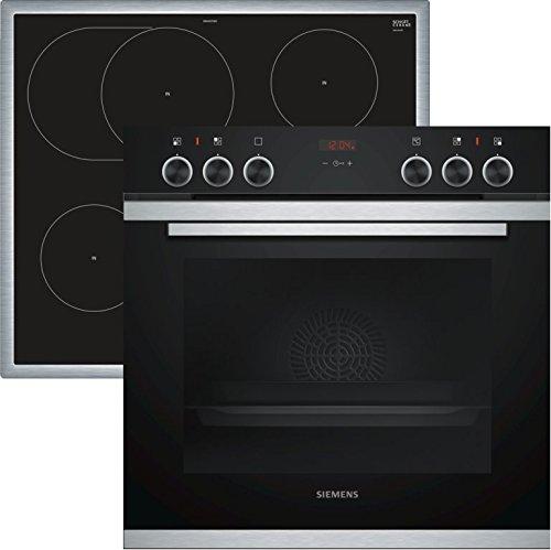 Siemens EQ211WA00 iQ300 Herd-Kochfeld-Kombination / A / 59,4 cm / Flachrahmen / Induktionskochfeld / granit-Glanz Emaille / Schnellaufheizung