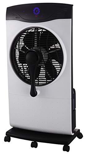 Zephir ZST31CM Ventilatore nebulizzatore con funzione nebulizzante ad acqua Pannello di controllo elettronico e Telecomando, Silver Nero
