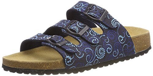 Supersoft Damen 274 138 Pantoffeln, Blau (Navy Multi), 39 EU