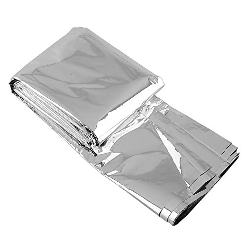 Forfar Silver Waterproof Emergency Tent Kits Folding Survival First Aid Camping Hiking Rescue Thermal Space Blanket Cover