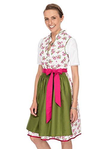 Stockerpoint Damen Peggy Dirndl, Mehrfarbig (Pink-Grün Pink-Grün), (Herstellergröße: 36)