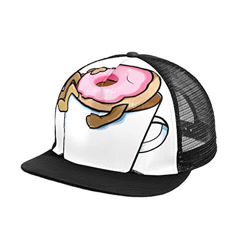 N\O Donuts Sleep Coffee Dessert Herren Baseball Cap Outdoor Sports Snapback Hut Verstellbare Frauen Sonnenschutz Hüte für Sommer Strand Wandern Laufen