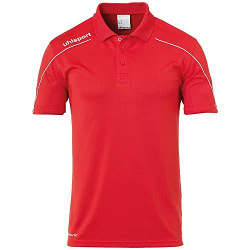 uhlsport Herren Stream 22 Polo Shirt T, Rot/Weiß, XL