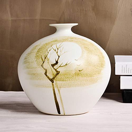 Bedom wallpaper Jingdezhen, jarrón de arreglo Floral Abstracto, cerámica, Chino, Sala de Estar, Armario de Vino, Piso de Entrada, decoración del hogar-Trompeta de Tres Piezas árbol Abstracto (1)
