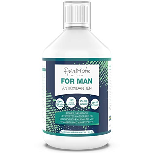 Ambiote For Man Multivitamin & Mikronährstoffkonzentrat für Männer – flüssiges Vitaminkonzentrat mit 150 Mikronährstoffen – Vitamine, Mineralstoffe, Spurenelemente – hergestellt in Schweden