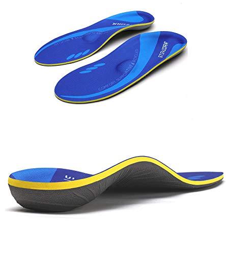 iFitna Niedrige Fußgewölbe, elastische Komfort-Einlegesohle, Sport-Schaumstoff, Kompression, Stoßdämpfung, Anti-Ermüdungseinsatz, Einlegesohle, geeignet für Schmerzen in flachen Fersen