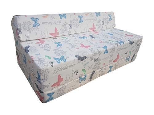 Natalia Spzoo Colchón Plegable Cama de Invitados Forma de sillón sofá de Espuma 200 x 120 cm (Glory)