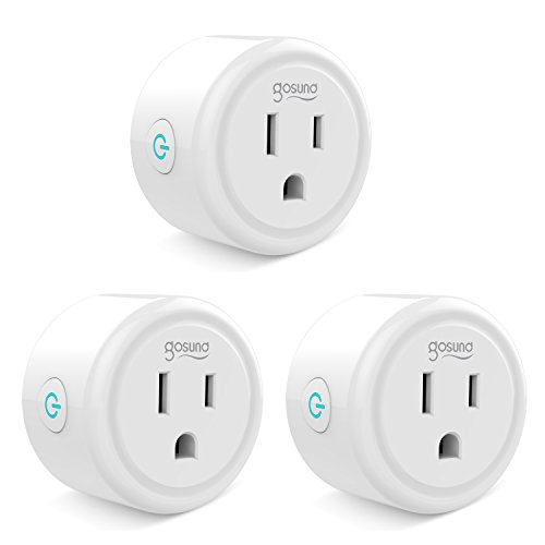 Gosund Smart Plug with Timer Compatible with Alexa, no Hub Required, ETL and FCC Listed WiFi Enabled Remote Control Smart Socket, Only Supports 2.4GHz Network (3 Pack)