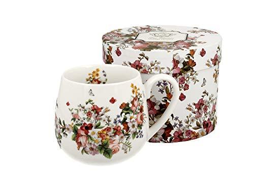 Duo - Taza de té (400 ml, sin filtro), diseño de flores