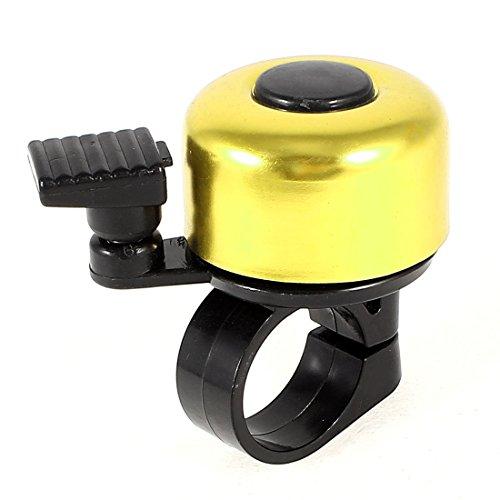 Vivienda Ronda 21mm alarma del anillo del Dia del manillar tono de campana Negro Oro