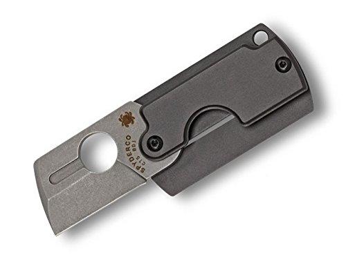 Spyderco Dog Tag Folder Gen4 Couteau de poche Gris Longueur de la lame 3 cm 01SP239