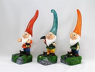 Solar Powered Garden Gnomes Orange