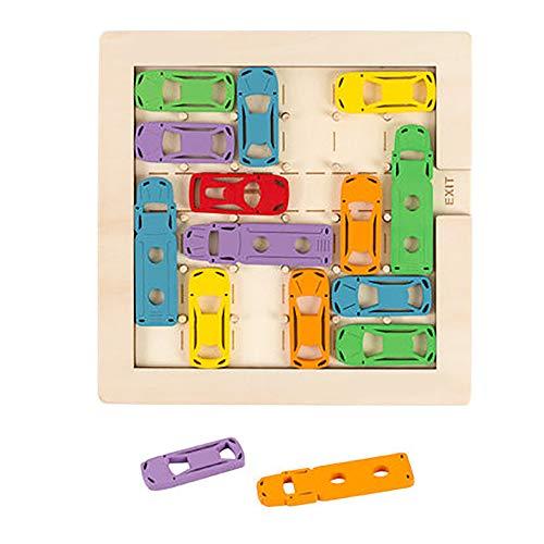 Denkoefening Voor Kinderspeelgoed - De Auto Uit De Garage Halen Logisch Bordspel Puzzel Jongens Verjaardagsgeschenk