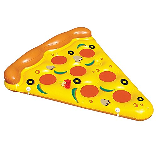 Feeryou Summer Cute Pizza Swim Ring Inflatable PVC Water Float Fashion Color Suitable for Children Water Toys Super Strong