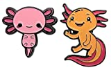 2 Pack! Axolotl Enamel Pins with Safety Backing. 2...