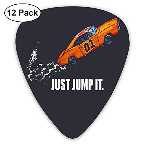 Jump It The Dukes Of Hazzard Gitarren-Picks (12er Pack) für E-Gitarre, Akustikgitarre