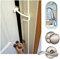 DOOR MONKEY Door Lock & Pinch Guard - Safety Door Lock For Kids - Baby Proof Door Lock For Bedrooms, Bathrooms &...