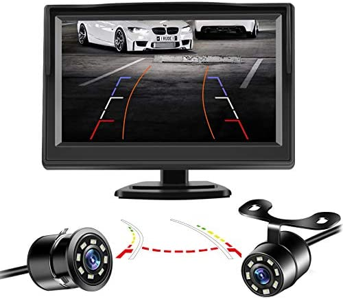 Niloghap Universal IP69K Waterproof Rear View Camera with 5 Inch Monitor License Plate Camera product image