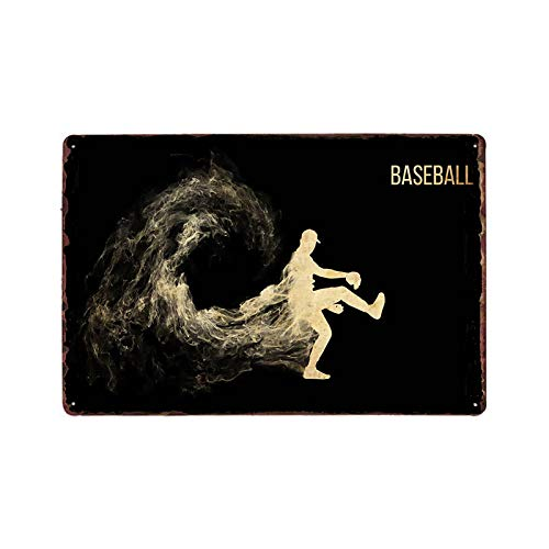 ayingzhenxiao Jarra de béisbol Placa de Cartel de Metal Retro Pared Cartel...