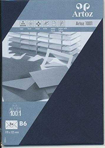 Artoz Papier AG - Kuvert B6 1001 Classic 5er-Pack navy blue