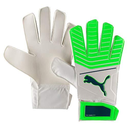 PUMA One Grip 17.4 Handschuhe Torwart, White/Green Gecko/Deep Lagoon, 8