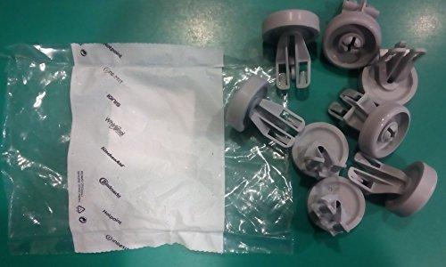 Ruote originali cestello inferiore lavastoviglie WHIRLPOOL W772 W77/2 8 pezzi