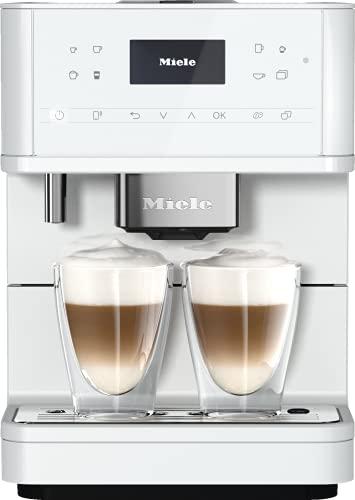 Miele CM 6160 MilkPerfection Stand Kaffeevollautomat / OneTouch for Two / Reinigungsprogramme / Genießerprofile / Kannenfunktion / cremiger Milchschaum / Vernetzung / Lotosweiß