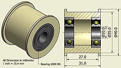 Nan zheng 4pcs T Groove Ronda Polea Nylon Rueda de Rodillo 3.8mm for la Cuerda de la Bola de cojinete 5x24x7mm Rodamientos de Agujas