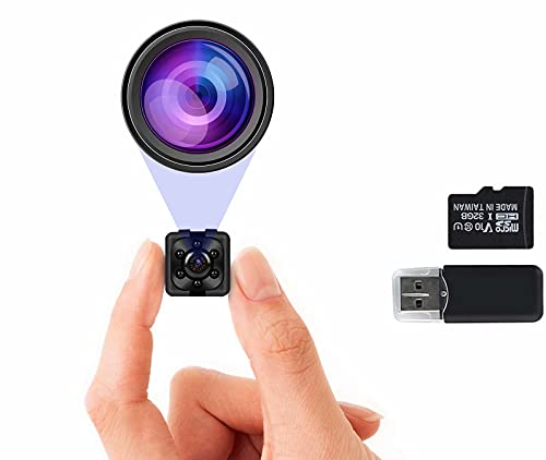 1080P Hidden Camera with 32GB SD Card, Full HD Mini Camera, Nanny Cam with Night Vision & Motion Activation