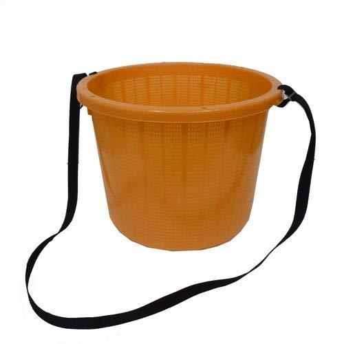丸型収穫かご(ベルト付)大 オレンジ 大 大