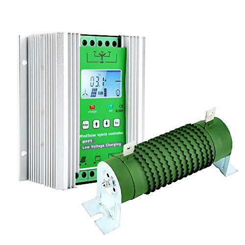 Solarladeregler MPPT Wind Solar Hybrid Controller Laderegler für Laderegelung Wind Solar Hybrid Laderegler mit LCD Display und externer Dump Load(JW2480)