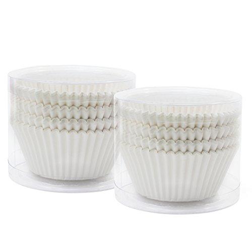 TsunNee pirottini per cupcake, pirottini per muffin, Fodere per cupcake, 7cm, bianco, 200-Pack