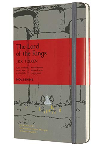 Moleskine, Notebook Il Signore Degli Anelli Edizione Limitata, Taccuino Copertina Rigida, Chiusura ad Elastico e Pagina a Righe, The Lord Of The Rings, Dimensione Large 13 x 21 cm, 240 Pagine