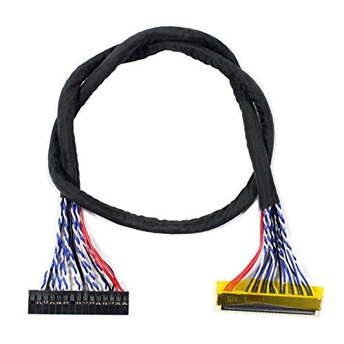 Lcdboard LVDS Kabel FIX-30P 2 ch, 6 bit, 40 cm lang