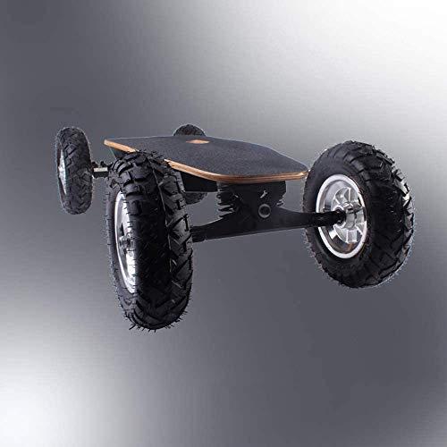 NOBRAND Off-road elektrisch skateboard, skateboard met draadloze afstandsbediening, E-Skateboard voor volwassenen en jongeren, esdoorn longboard, 1600 W