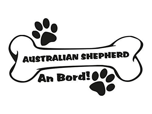 1 x Plott Aufkleber Hundeknochen Australian Shepherd An Bord Pfote Hund Dog Bone
