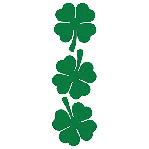 LiteMark Reflective Green 2 Inch 4 Leaf Clover Sticker Decals for Hard Hats, Helmets, Tool Boxes and More - Pack of 3