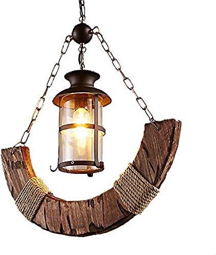 Kroonluchter creatief retro kroonluchter boot hout oude kandelaar cafe bar lamp Classic eenvoudig en duurzaam