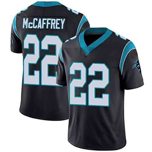 MNBV Desgaste Jersey NFL De Los Hombres De Carolina Panthers 22# McCAFFREY Jóvenes Cómodo Y Transpirable Jerseys Sudaderas,Negro,M(175cm~180cm)