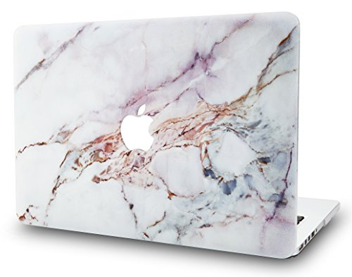 KECC MacBook Air 13' Retina Case (2020/2019/2018, Touch ID) Plastic Hard Shell Cover A2179/A1932 (White Marble 4)