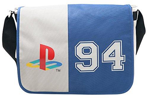 DIFUZED Sac Bandouliere Playstation Classic Logo 94 Umhängetasche, 38 cm, Mehrfarbig (Gris Et Bleu)