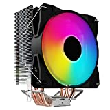 Yuvera Enfriador de CPU para computadora de escritorio Colorido Silencioso Chasis Ventilador de refrigeración Accesorios prácticos para computadora