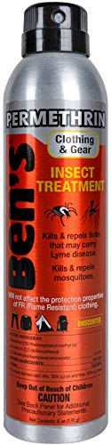 Ben's Clothing and Gear Insect Repellent – 0.5% Permethrin Formula – Repels Ticks, Mosquitoes, & Insects – Kills Bugs on Contact – Long-Lasting Protection – Easy to Use – 6 oz. Continuous Spray