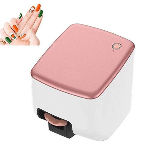 YILIAN 3D Digital Nail Art Printer Multifunction Portable Nail Art Printer Automatic Nail Printer, for Nail Salon, Home