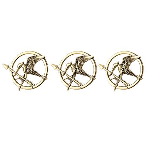 DreamJing Broche Pin de Los Juegos del Hambre Sinsajo Pin Insignia Broche Pin Insignia Broche Accesorios de Ropa – Oro