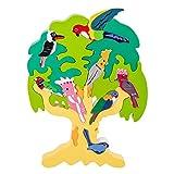 Bloques de construcción de Madera Set de árboles Puzzle Animal Juguetes niños Rompecabezas de Rompecabezas Early Educational Juguetes para niños pequeños TINGG