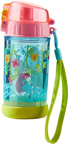HABA Vicki & Pirli 302844 - Botella de agua con purpurina para niños (250 ml, plástico sin BPA, apta para lavavajillas, antigoteo)
