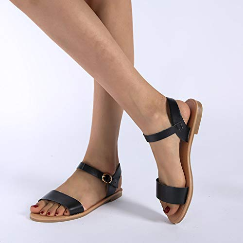 CCCS Flache Sandalen für Damen, breite Passform, Ballenzeh-Sandalen für Damen, bequem, rutschfest, atmungsaktiv, 0, 39