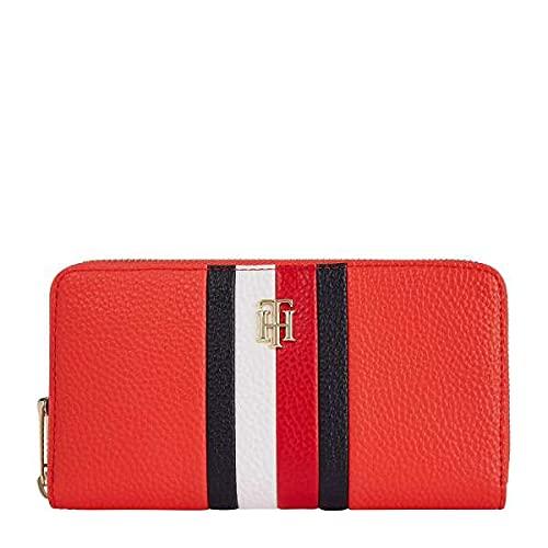 cartera roja mujer fabricante Tommy Hilfiger