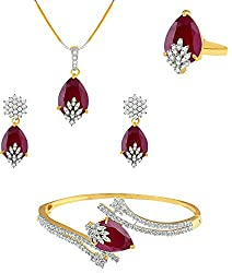 Goldplated Designer 4pcs Necklace Set Ethnic Traditional Women Wedding Jewellery Demand Exceeding Supply Engagement & Wedding Bridal & Wedding Party Jewelry